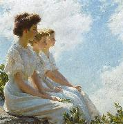 Charles Courtney Curran On the Heights oil on canvas